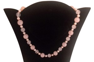 Other *SALE*Rose quart,pearl,gold beads set in 14k gold