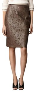Burberry Leather Skirt Taupe