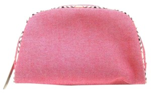 Burberry *SALE*BURBERRY NOVA CHECK COSMETIC BAG LEATHER CANVAS POUCH PENCIL MAKE UP CASE