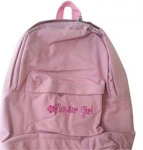Pink Flower Girl Backpack Luggage