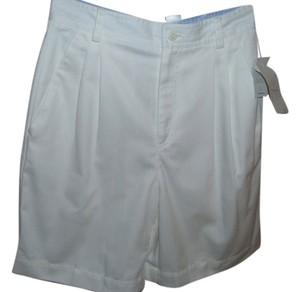 Liz Claiborne Walking Long High Waist Golf Bermuda Shorts white