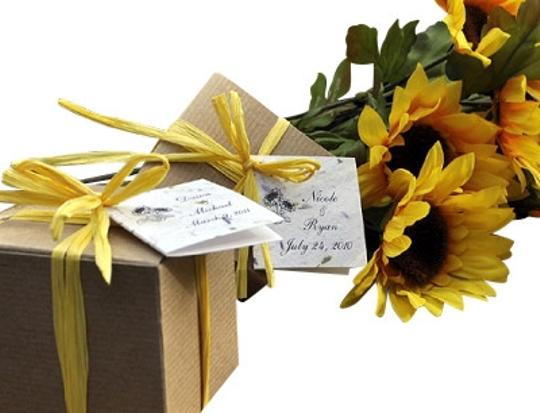 Yellow Sensational Sunflower Guest Gift Card