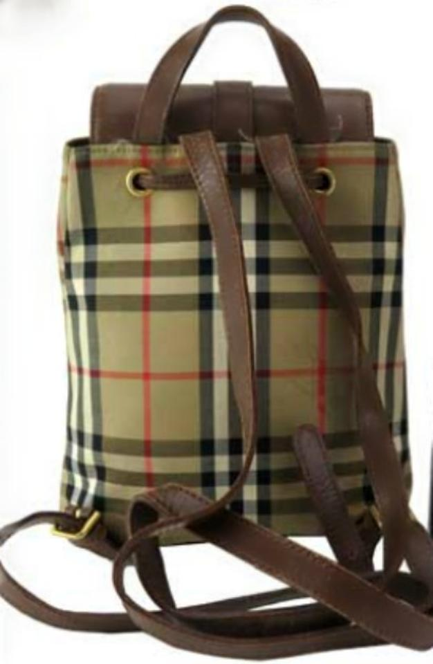 e858ddb5d9c7 Burberry Mini Camel Check Canvas Leather Backpack - Tradesy