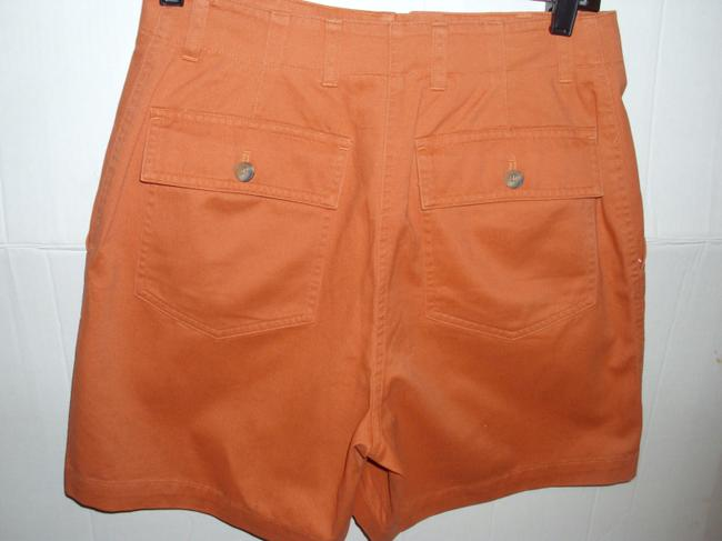 Jones New York Burnt Pleated Casual Mini/Short Shorts orange