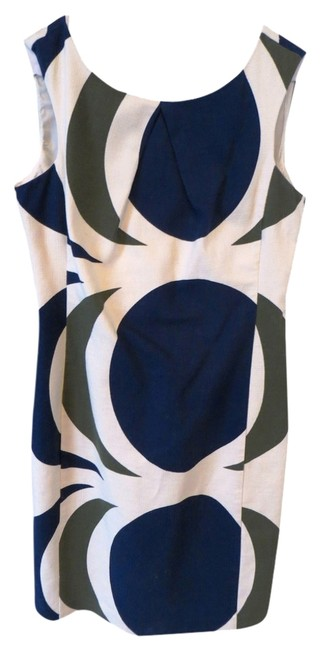 Preload https://item4.tradesy.com/images/anthropologie-sheath-dress-ivory-green-blue-1005218-0-1.jpg?width=400&height=650