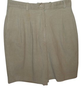 JHC Walking Golf Corduroy High Waist Bermuda Shorts beige