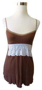 JET John Eshaya Lace Trim Doily Waist Los Angeles Top