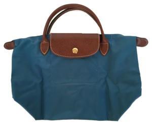 Longchamp Tote in Ice Blue