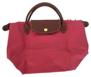 Longchamp Tote in Malabr Pink