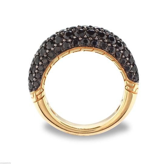 Other 18k Yellow Gold and Black Diamond RIng (Size 6.5)