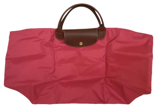 Item - Le Pliage Malabr Pink Nylon Weekend/Travel Bag