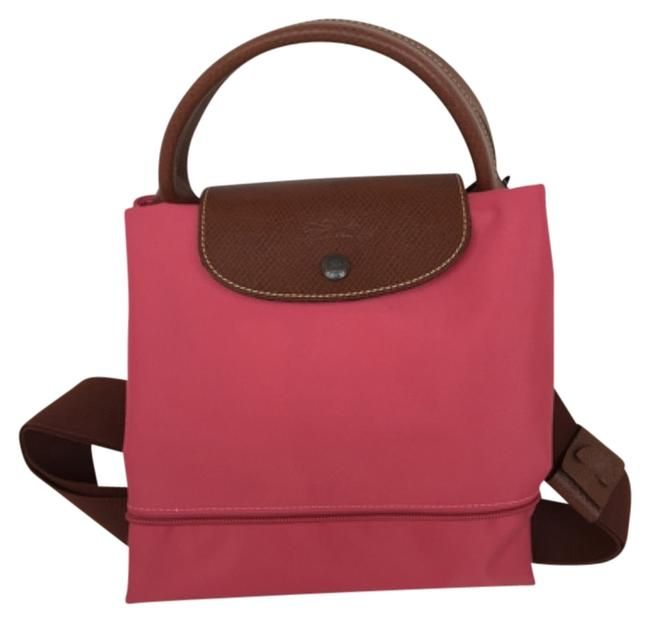 Item - Duffle Le Pliage Expandable with Shoulder Strap Malabr Pink Nylon Weekend/Travel Bag