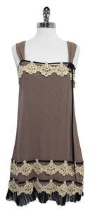 Yoana Baraschi short dress Mauve Silk Embellished Sleeveless on Tradesy