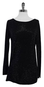 Alice + Olivia Black Beaded Sweater