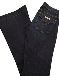 Hudson Jeans Coated Nice Midrise Blue Size 24 Flare Leg Jeans-Coated