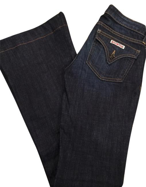 Item - Dark Blue Coated Flare Leg Jeans Size 24 (0, XS)