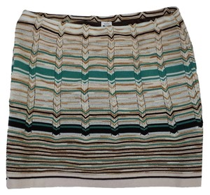 Missoni Multi Color Knit Knit Skirt