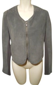 Ella Moss Leather Suede grey Leather Jacket