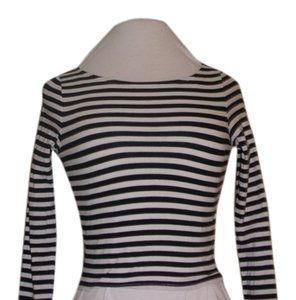 Divided by H&M T Shirt Black and White Stripes