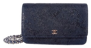 Chanel Wallet On Chain Woc Silver Cross Body Bag