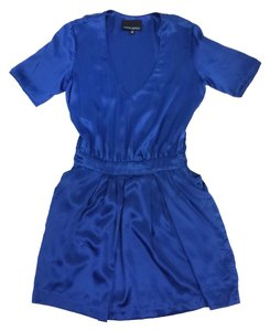 Cynthia Rowley short dress Blue Silk Short Sleeve on Tradesy