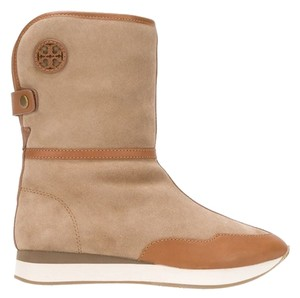 Tory Burch Shearling Sheep Skin Fur Lined Winter Snow Ugg Tan Boots