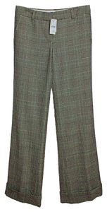 J.Crew Wool Blend Houndstooth Flare Pants Brown/Green