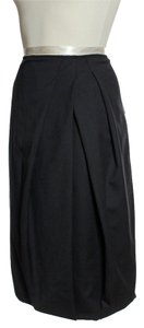 Lafayette 148 New York Woo Blend Pleated Skirt Black