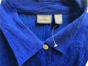 Chico's Button Down Shirt ROYAL BLUE