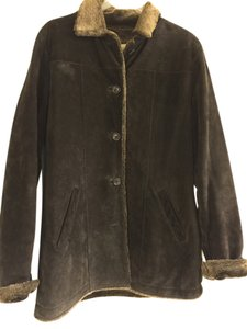 Eddie Bauer Chocolate Leather Jacket