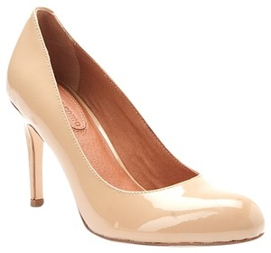 Corso Como High Heel Nude Leather Beige patent Pumps