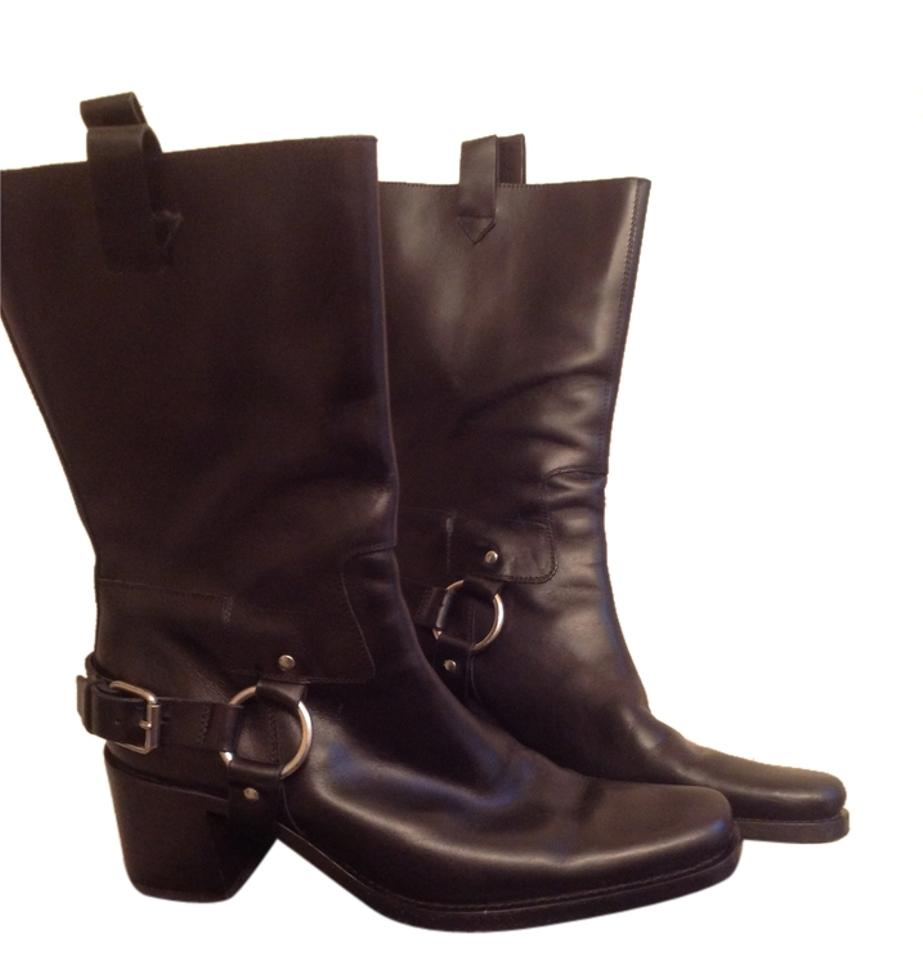 miu miu motorcycle black boots boots booties on sale. Black Bedroom Furniture Sets. Home Design Ideas