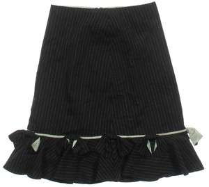 Elevenses Pinstripe Skirt Black