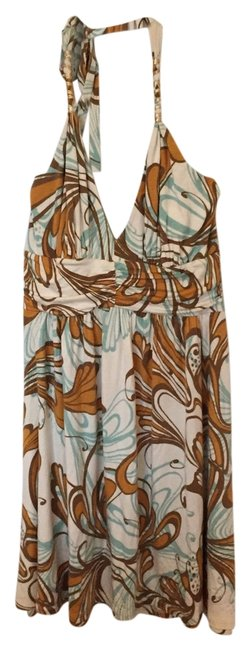 Express short dress Cream, mint, brown and gold on Tradesy