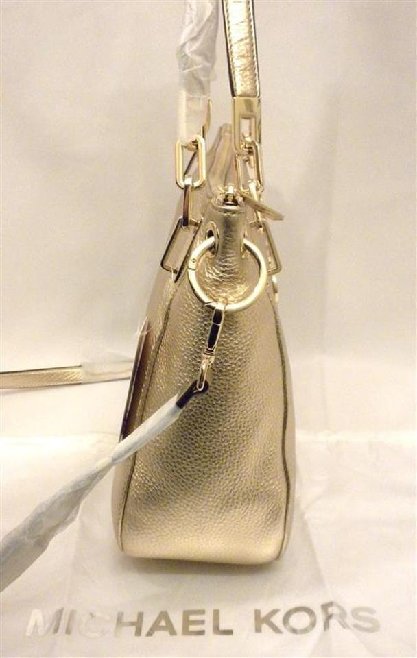 1afa19cd5ea9 Michael Kors Large Brooke Convertible Tote Pale Gold Leather Shoulder Bag -  Tradesy