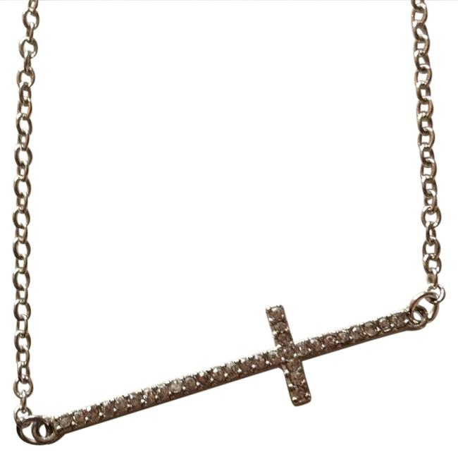 Item - Silver Crystal Cross Necklace