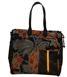 Handcrafted by Deb Tote in Black/red/gold