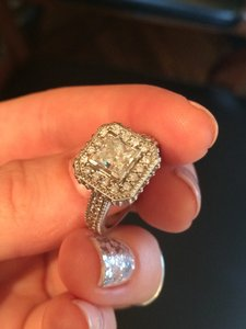 Other Spectacular 1.01ct Princess Cut Ring With 46 Surrounding Diamonds - Valued 8500