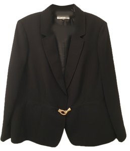 Tahari Black pant suit with gold buckle detailing