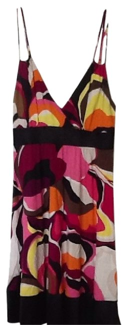 Preload https://item3.tradesy.com/images/express-white-yellow-pink-brown-and-black-cotton-multi-colored-mid-length-short-casual-dress-size-6--100592-0-2.jpg?width=400&height=650