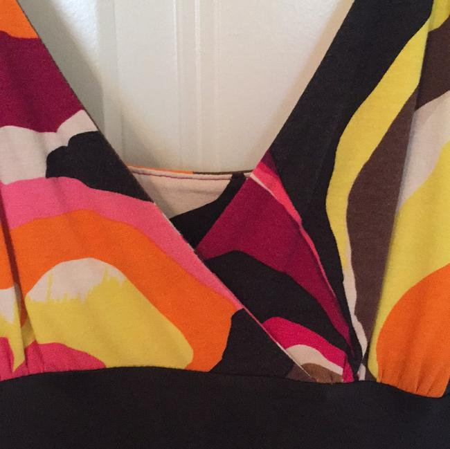 Express short dress White, yellow, pink, brown and black on Tradesy