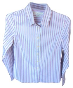 Old Navy Striped Button Down Shirt Multi-Color
