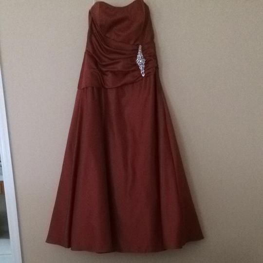 Caterina Collection Cinnamon Formal Bridesmaid/Mob Dress Size 12 (L)