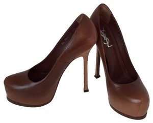 Saint Laurent Brown camel cognac Platforms