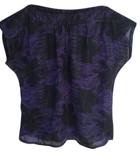 Tucker Top black purple metallic