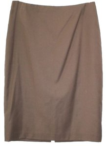 Ellen Tracy Wool Pencil Skirt BROWN