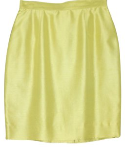 Dana Buchman Silk Pencil Skirt CHARTREUSE
