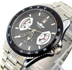 MCE Smart Looking Automatic Sport Watch With Black Face-FREE SHIPPING 1/2 PRICE