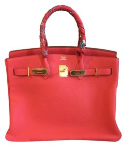 Hermès Satchel in Rose Jaipur