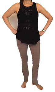 Lucky Brand Blouse Sleeveless Top Black lace